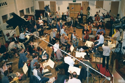 The John Wilson Orchestra Photographed in Studio Two, Abbey Road on Tuesday 13 May 2003 (click to enlarge)