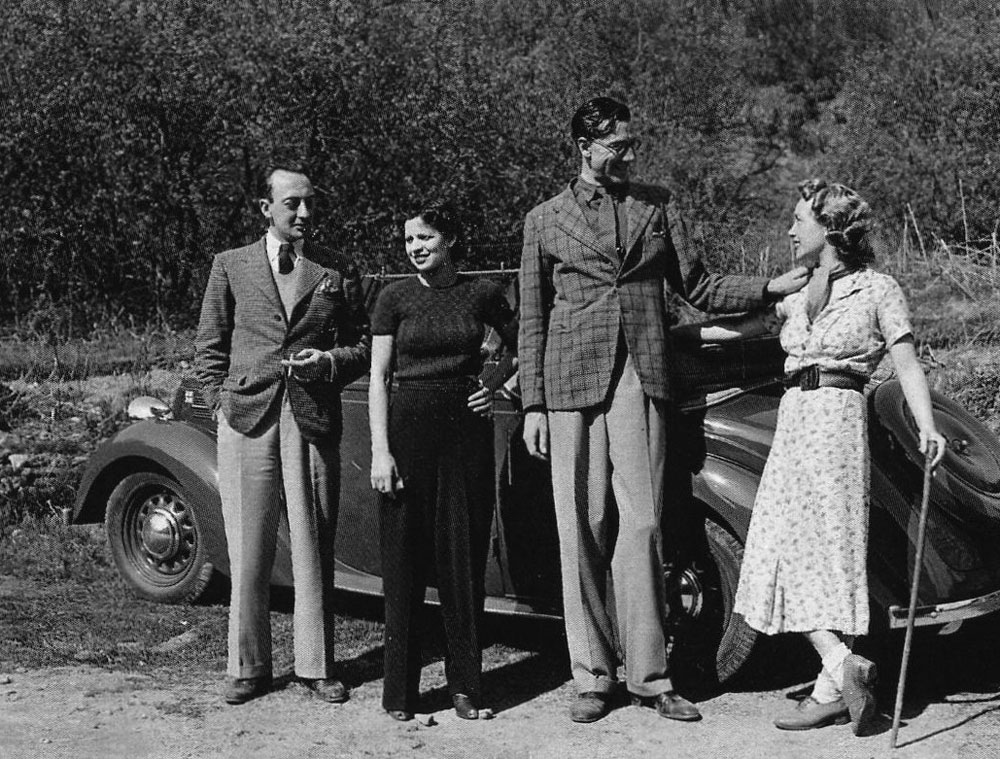 Cecil Milner and Clive Richardson with their wives.